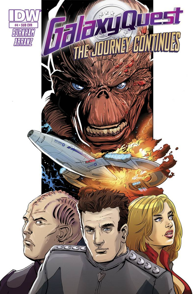 Galaxy Quest: The Journey Continues #4 (Subscription Cover)