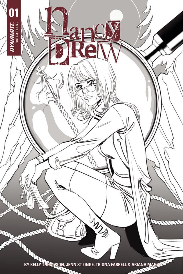 Nancy Drew #1 (10 Copy Sauvage B&W Cover)