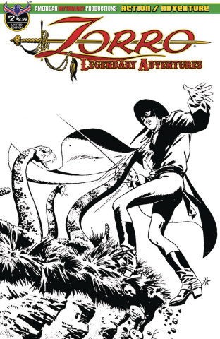 Zorro: Legendary Adventures #2 (Blazing Blades of Zorro Cover)