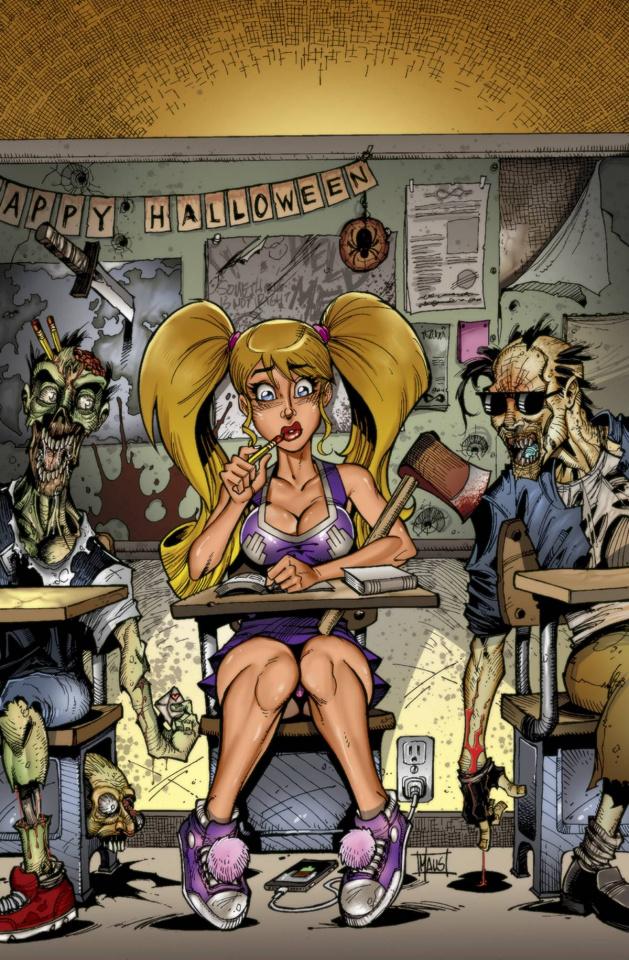Zombies vs. Cheerleaders Halloween 2015 #1 (Maus Cover)