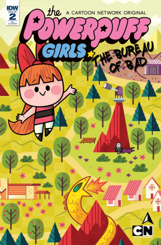The Powerpuff Girls: The Bureau of Bad #2 (10 Copy Cover)