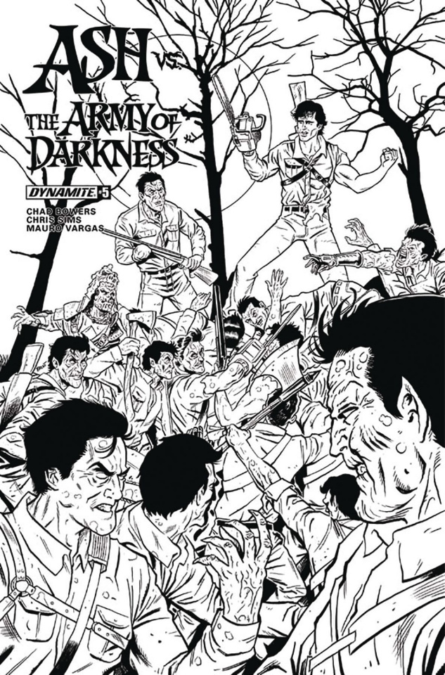 Ash vs. The Army of Darkness #5 (20 Copy Schoonover B&W Cover)