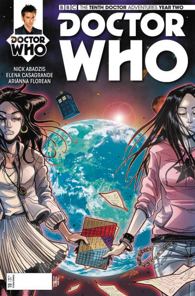 Doctor Who: New Adventures with the Tenth Doctor, Year Two #10 (Carlini Cover)