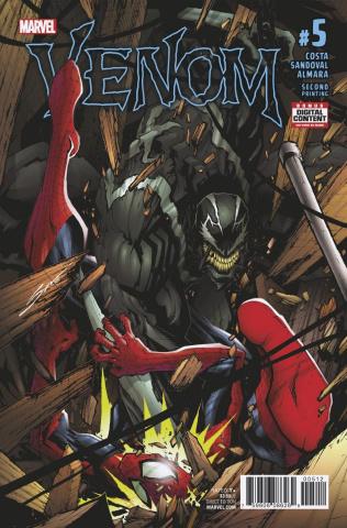 Venom #5 (2nd Printing Sandoval)