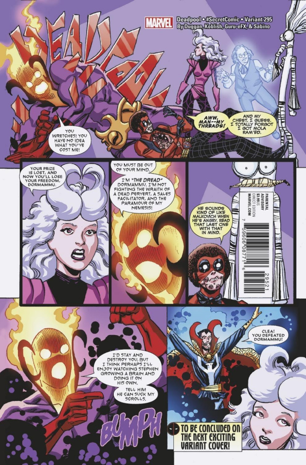 The Despicable Deadpool #295 (Koblish Secret Comic Cover)