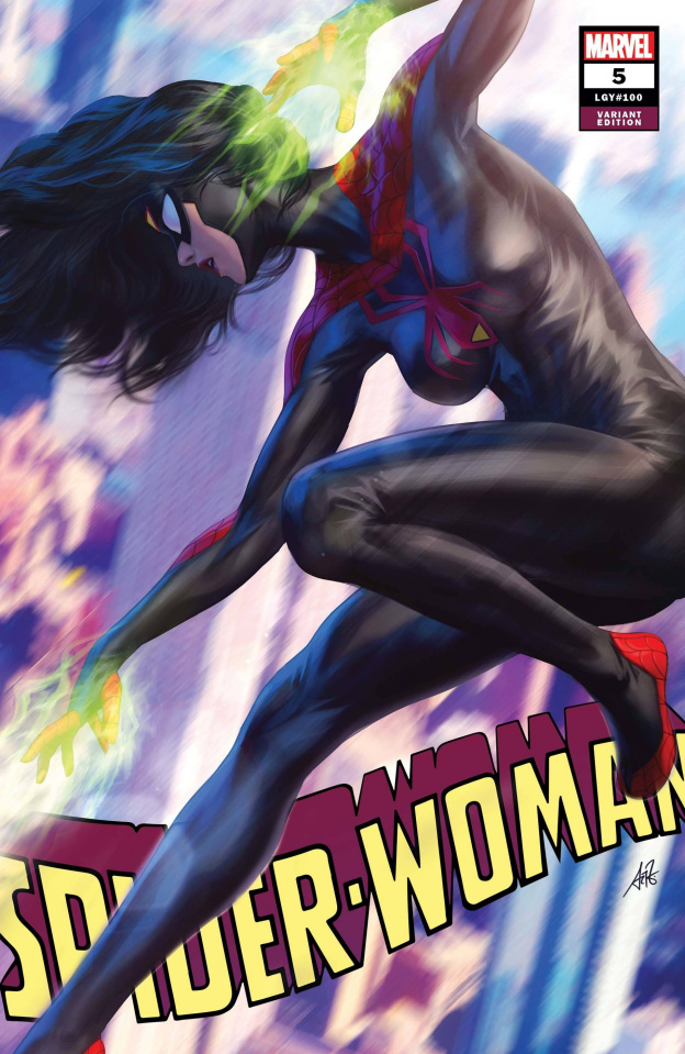 Spider-Woman #5 (Artgerm Black Costume Cover)