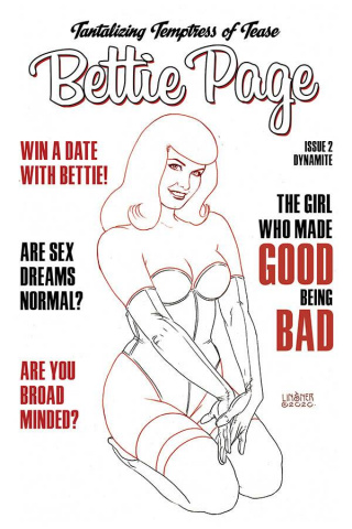 Bettie Page #2 (35 Copy Linsner B&W Cover)