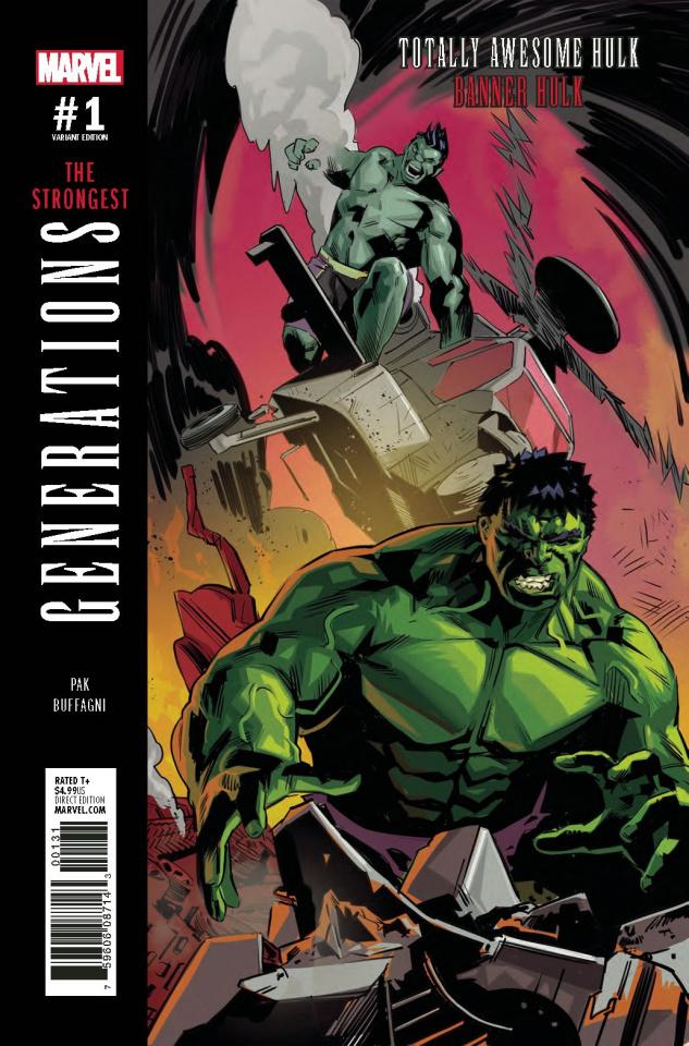 Generations: Banner Hulk & Totally Awesome Hulk #1 (Buffagni Cover)