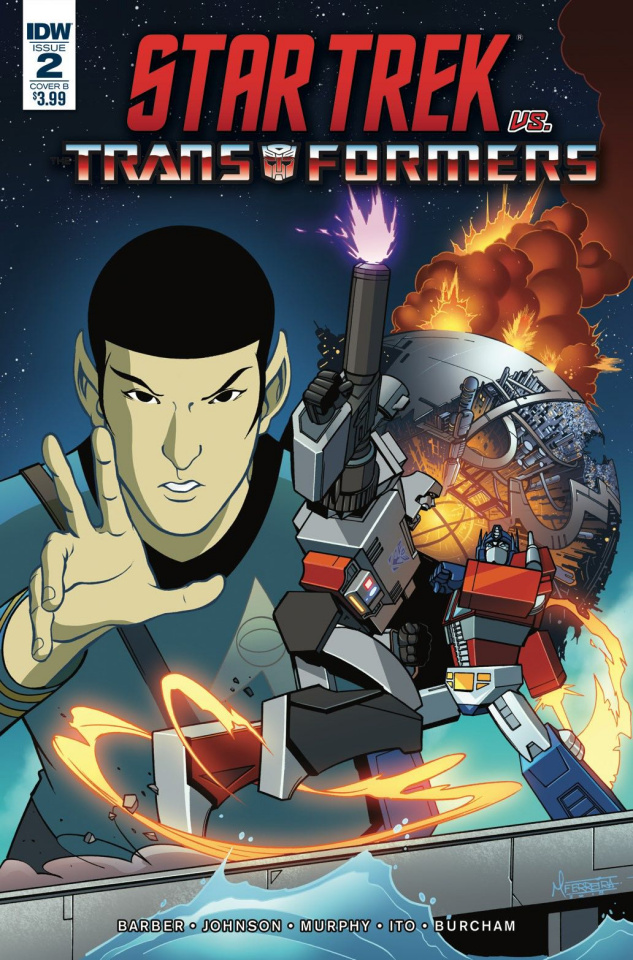 Star Trek vs. The Transformers #2 (Ferreira Cover)