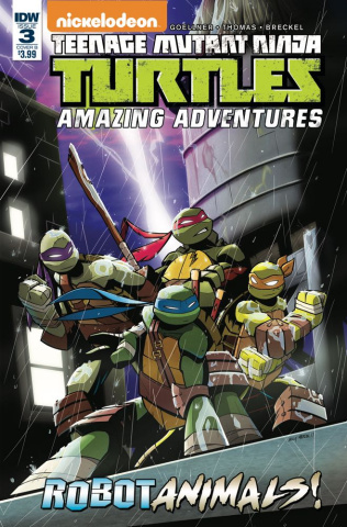 Teenage Mutant Ninja Turtles: Amazing Adventures - Robotanimals #3 (Martin Cover)