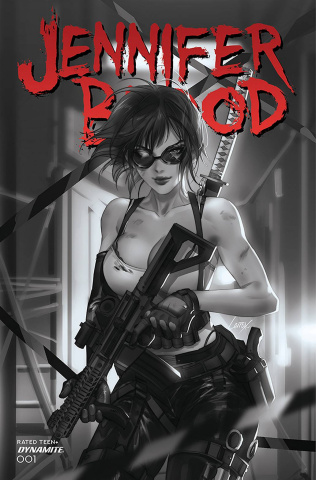 Jennifer Blood #1 (15 Copy Li B&W Cover)