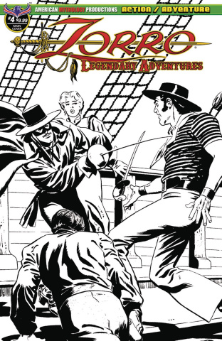 Zorro: Legendary Adventures #4 (Blazing Blades of Zorro Cover)