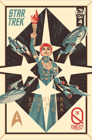 Star Trek: The Q Conflict #4 (10 Copy Caltsoudas Cover)