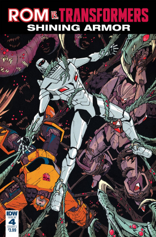 ROM vs. The Transformers: Shining Armor #4 (Milne Cover)