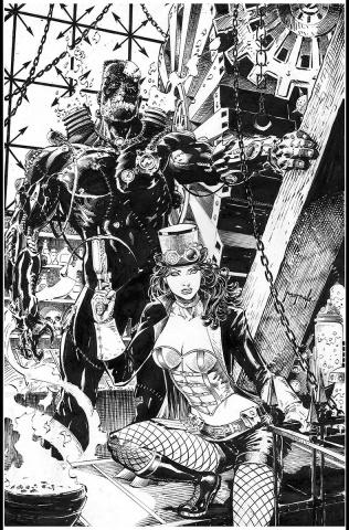 Grimm Fairy Tales: Van Helsing vs. Frankenstein #1 (Metcalf Cover)