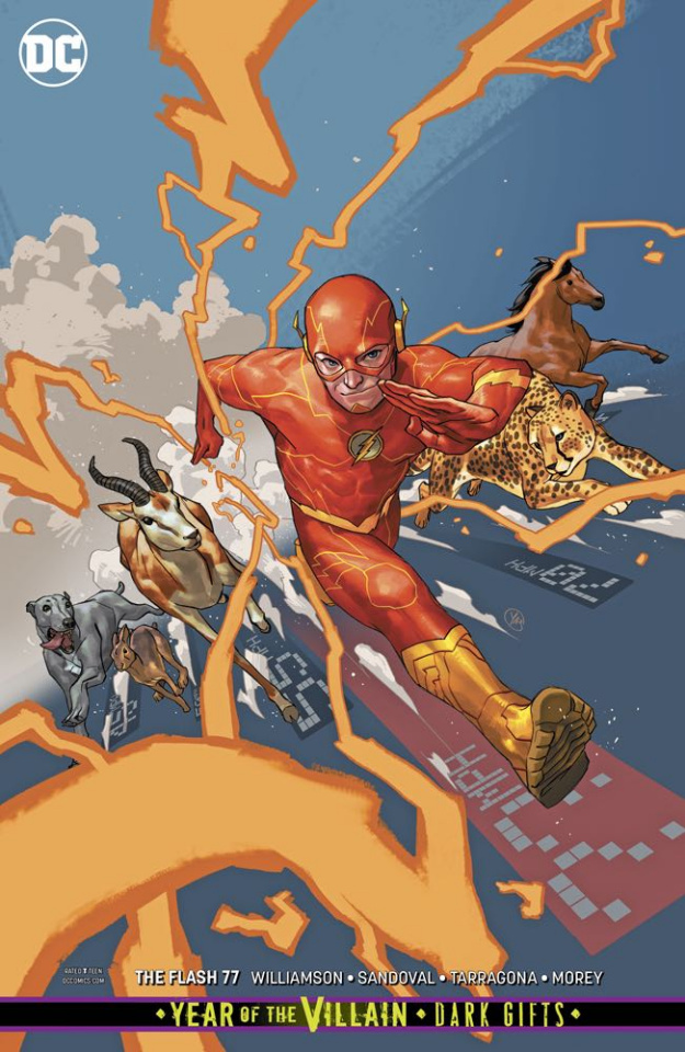 The Flash #77 (Card Stock Dark Gifts Cover)