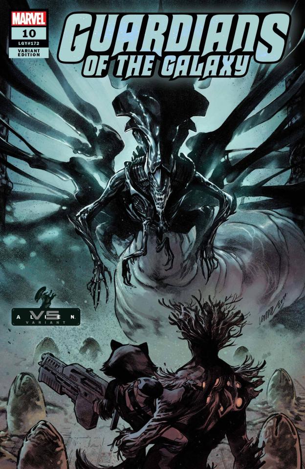 Guardians of the Galaxy #10 (Larraz Marvel vs. Alien Cover)