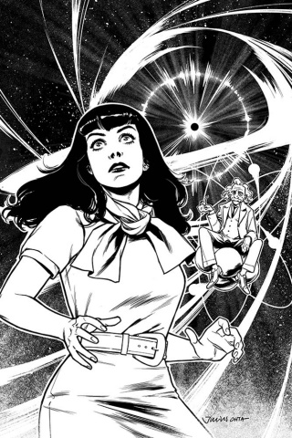 Bettie Page: Unbound #5 (7 Copy Ohta B&W Virgin Cover)