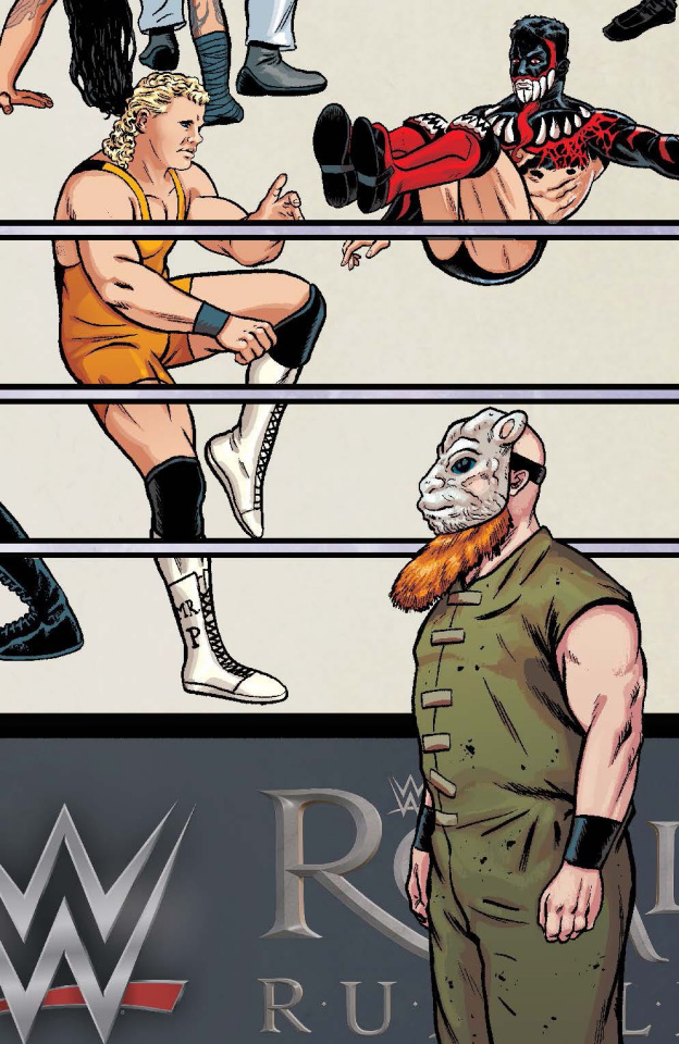 WWE #8 (Unlockable Royal Rumble Schoonover Connecting Cover)