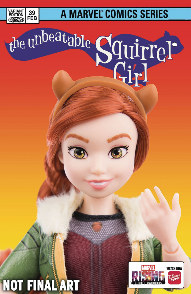 The Unbeatable Squirrel Girl #39 (Marvel Rising Action Doll Homage Cover)