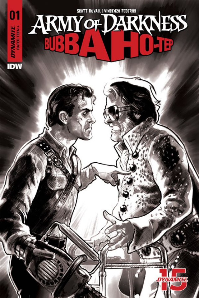 Army of Darkness / Bubba Ho-Tep #1 (30 Copy Galindo B&W Cover)
