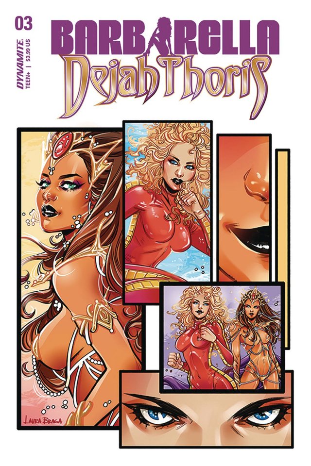 Barbarella / Dejah Thoris #3 (Braga Cover)