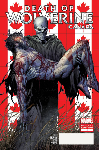 Death of Wolverine #4 (McNiven Canada Cover)
