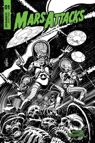 Mars Attacks #1 (10 Copy Mandrake B&W Cover)
