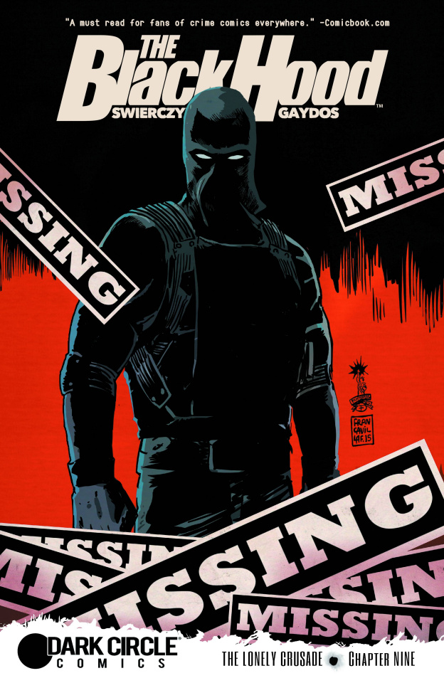 The Black Hood #9 (Francavilla Cover)