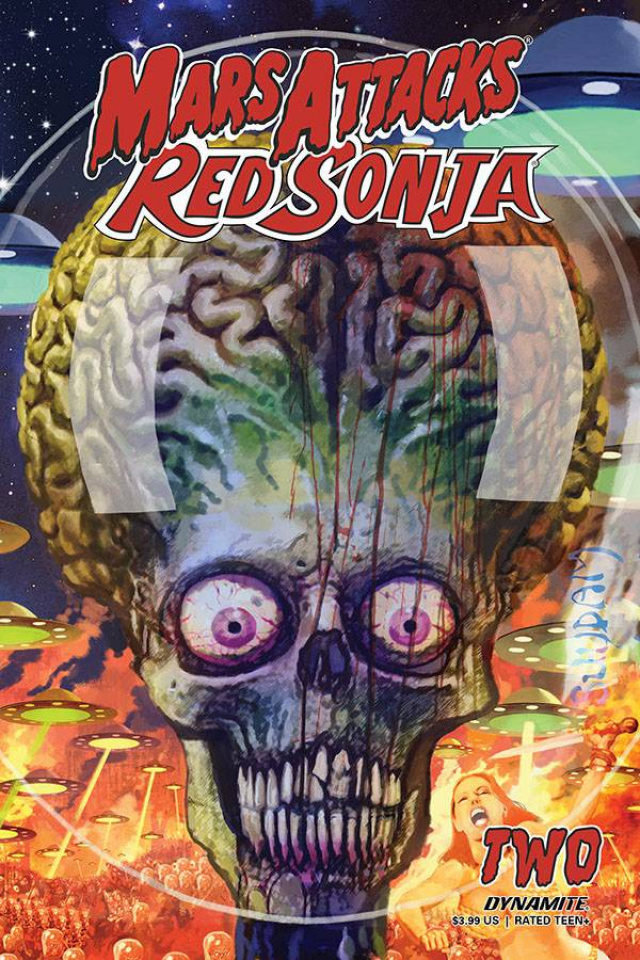 Mars Attacks / Red Sonja #2 (Suydam Cover)