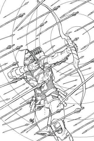 Green Arrow: An Adult Coloring Book