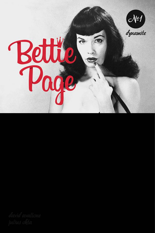 Bettie Page: Unbound #1 (Black Bag Photo Cover)