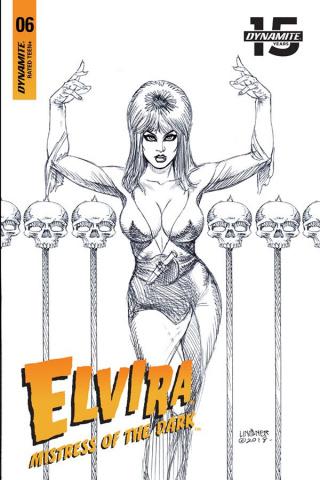 Elvira: Mistress of the Dark #6 (25 Copy Linsner B&W Cover)