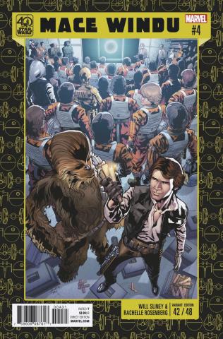 Star Wars: Mace Windu, Jedi of the Republic #4 (40th Anniversary Cover)