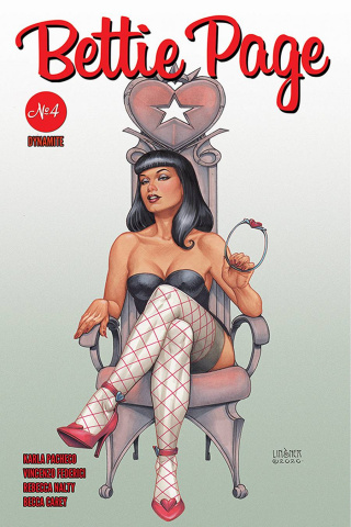 Bettie Page #4 (Linsner Cover)