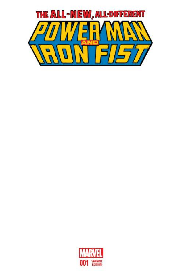 Power Man & Iron Fist #1 (Blank Cover)