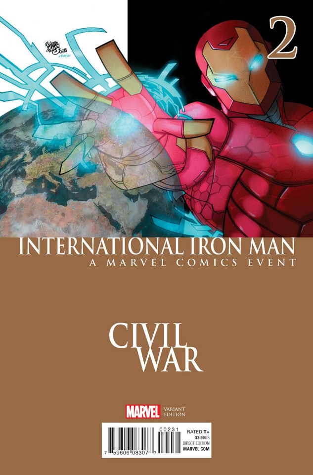 International Iron Man #2 (Ferry Civil War Cover)