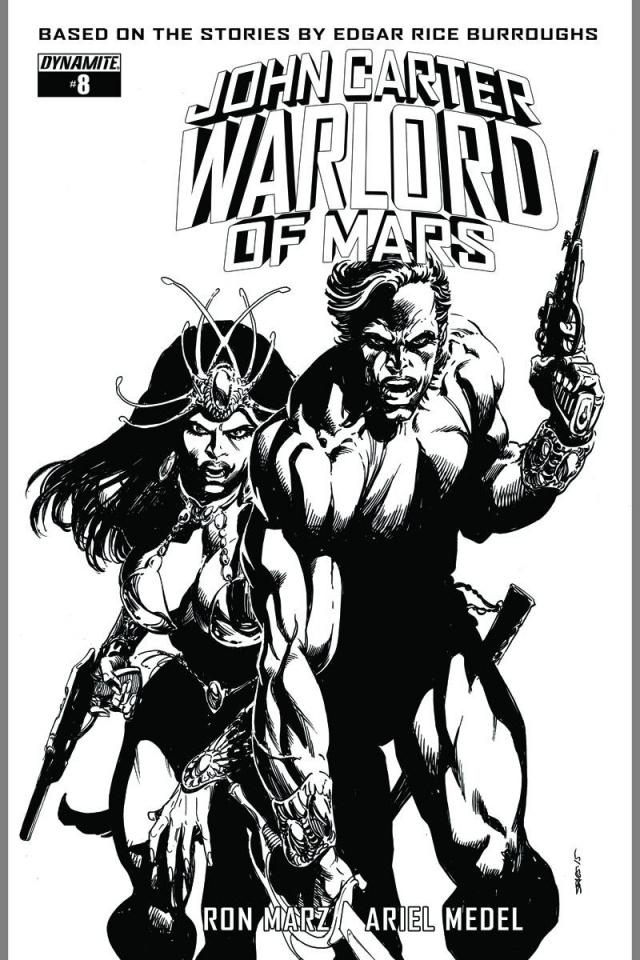 John Carter: Warlord of Mars #8 (10 Copy Sears B&W Cover)