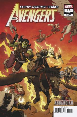 Avengers #18 (Rivera Asgardian Cover)