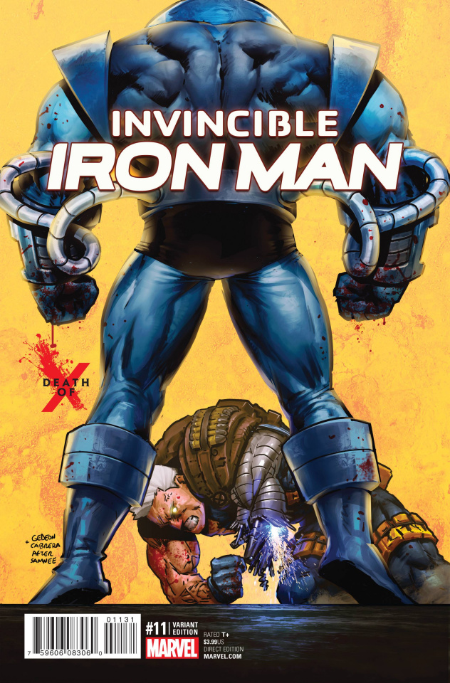 Invincible Iron Man #11 (Death of X Cover)