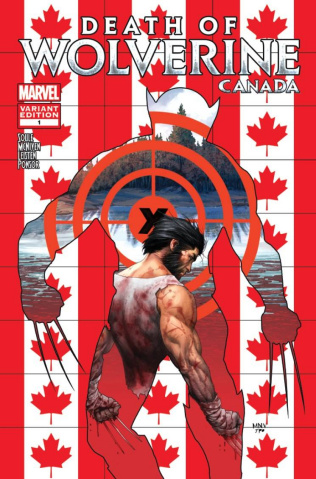 Death of Wolverine #1 (McNiven Canada Cover)