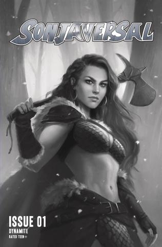 Sonjaversal #1 (11 Copy Sampaio Greyscale Cover)