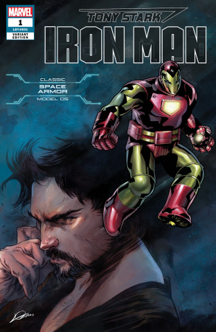 Tony Stark: Iron Man #1 (Space Armor Cover)