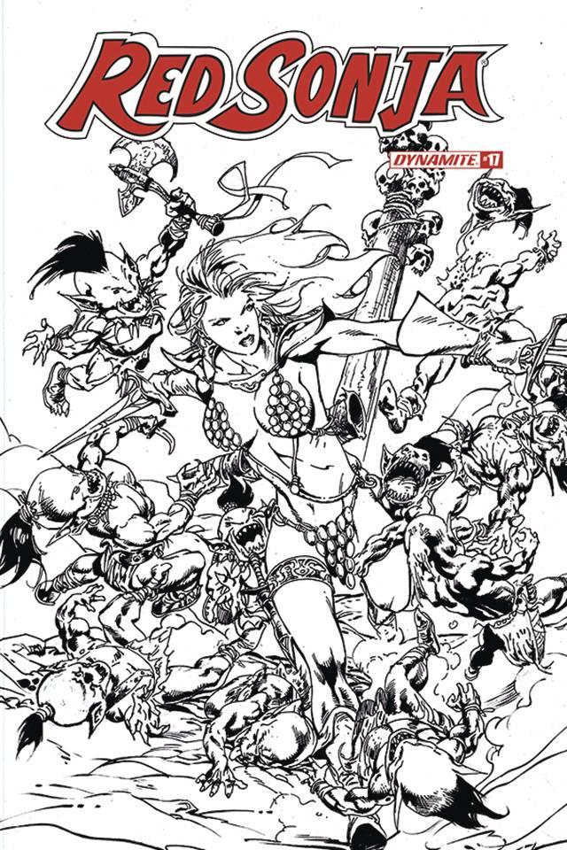 Red Sonja #17 (11 Copy Castro B&W Cover)