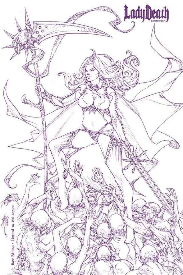 Lady Death: Extinction Express #1 (Raw S&N Edition)
