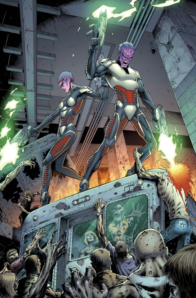 Aliens vs. Zombies #4 (Metcalf Cover)