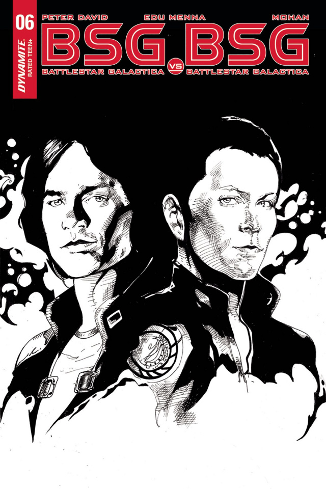 BSG vs. BSG #6 (10 Copy Castro B&W Cover)