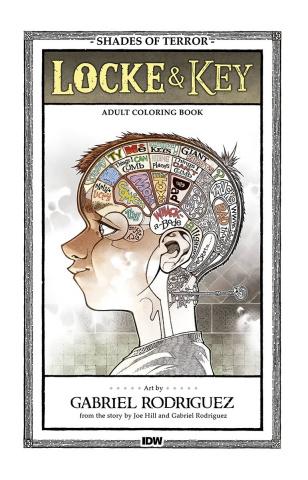 Locke & Key: Shades of Terror Coloring Book