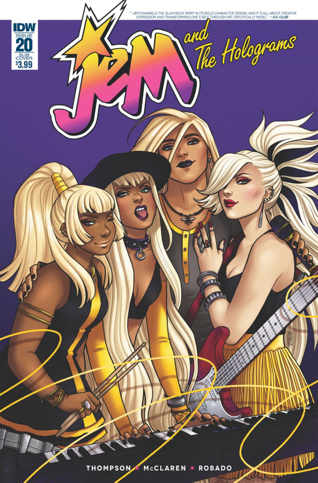 Jem and The Holograms #20 (Subscription Cover)