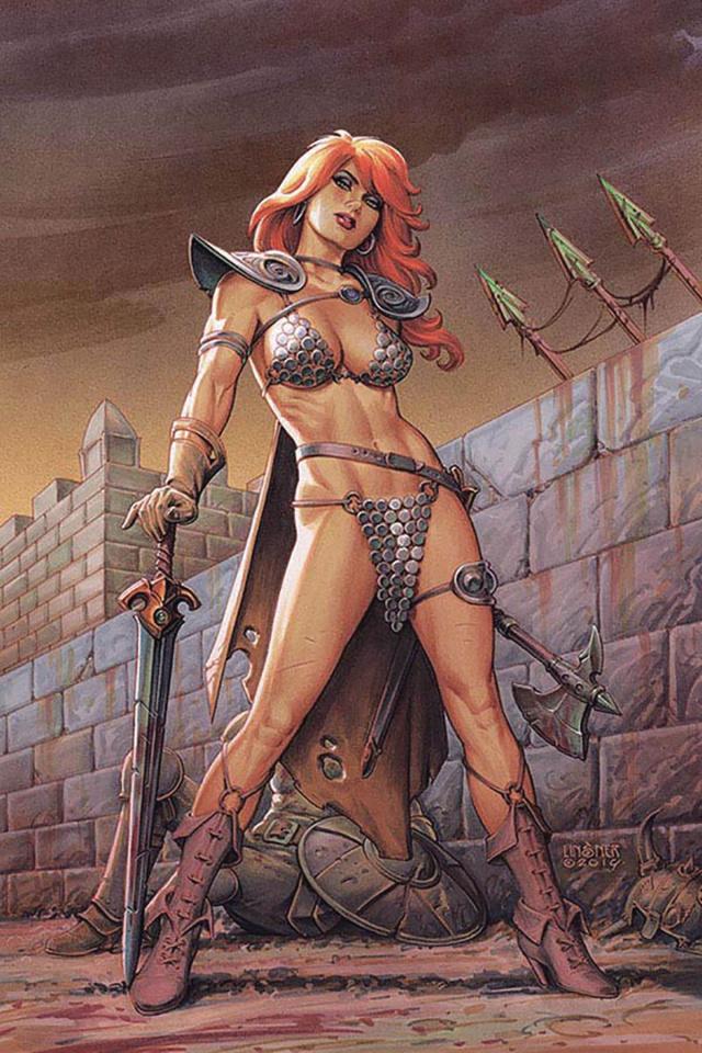Red Sonja #12 (Linsner Virgin Cover)